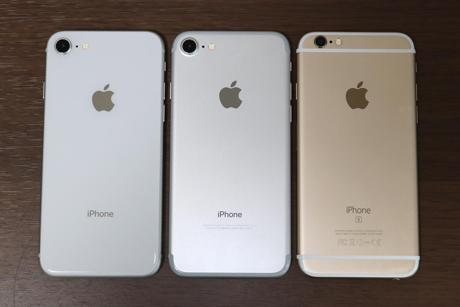 iPhone8 vs iPhone7 vs iPhone6s