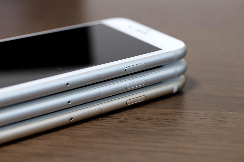 iPhone8 vs iPhone7 vs iPhone6s 音量ボタン