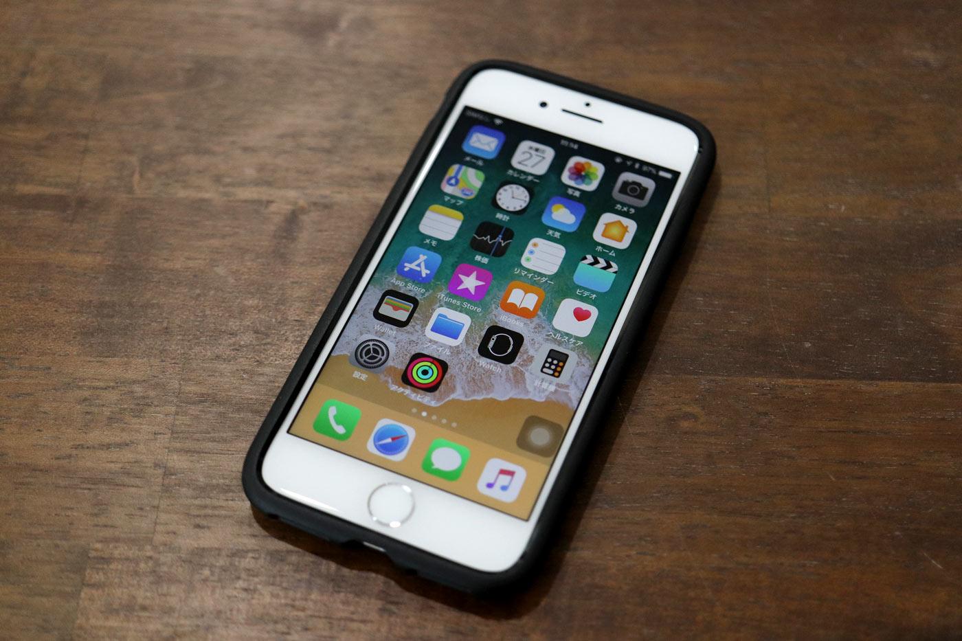 iPhone8にAndMeshケース