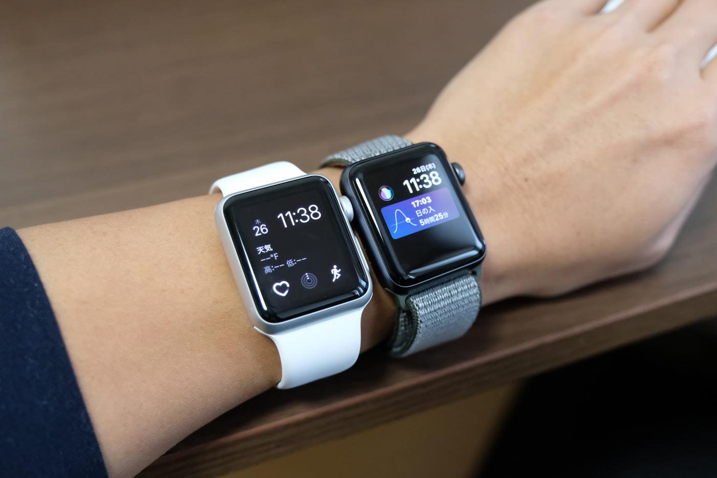 Apple Watch SPORTとApple Watch Series 3
