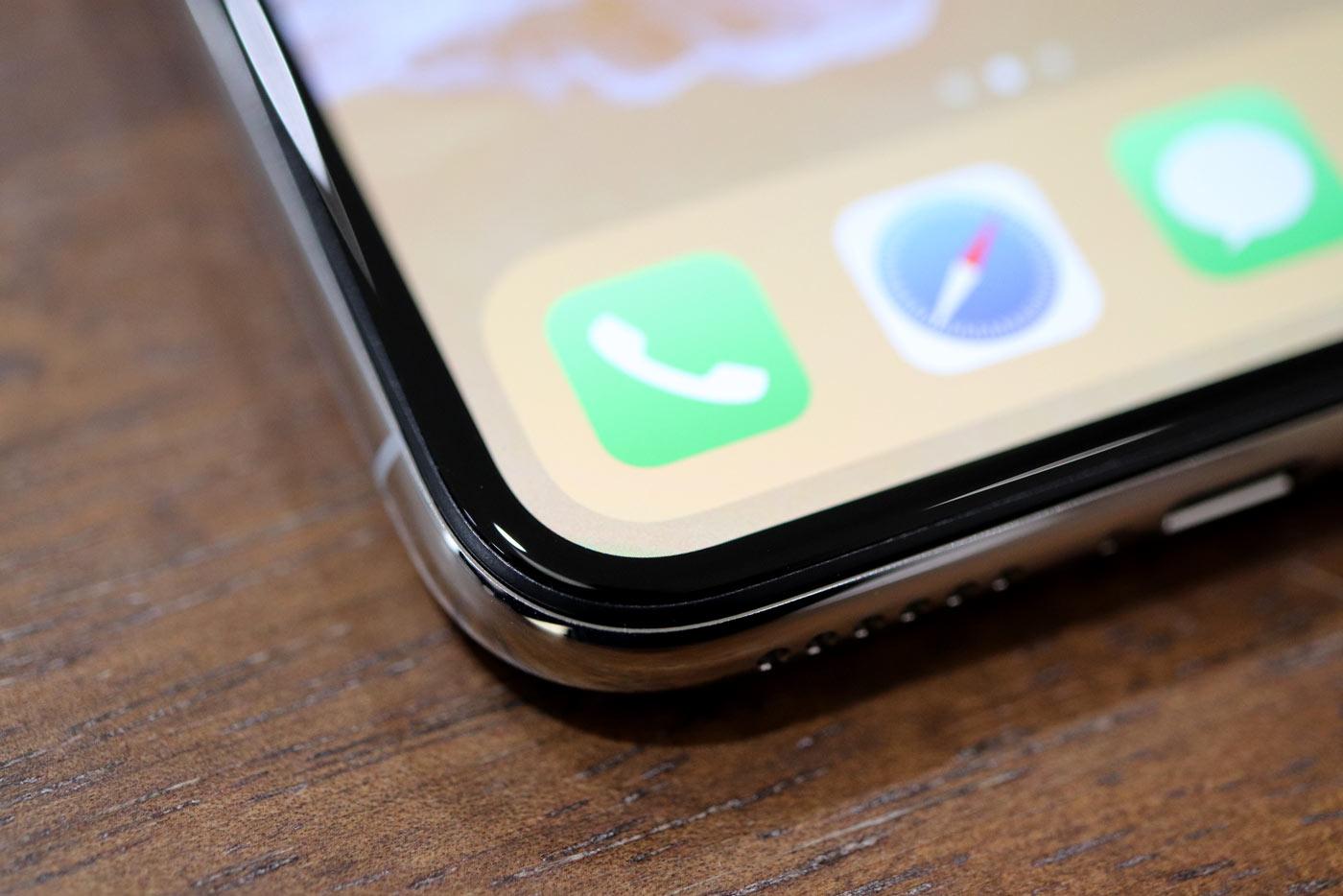 iPhone X 角丸ディスプレイ