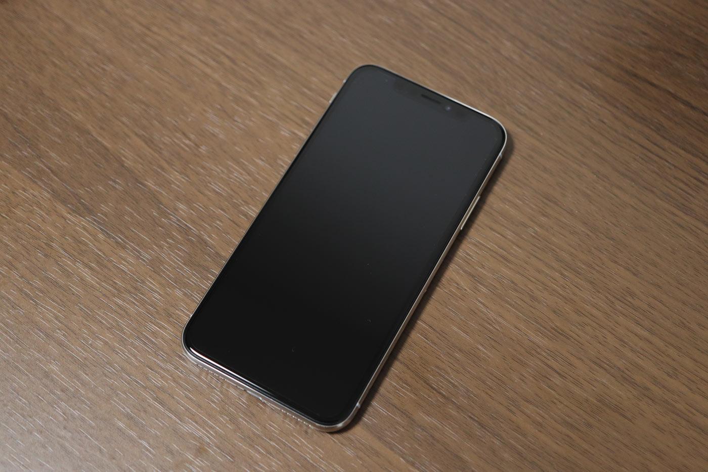 スリープ状態のiPhoneX