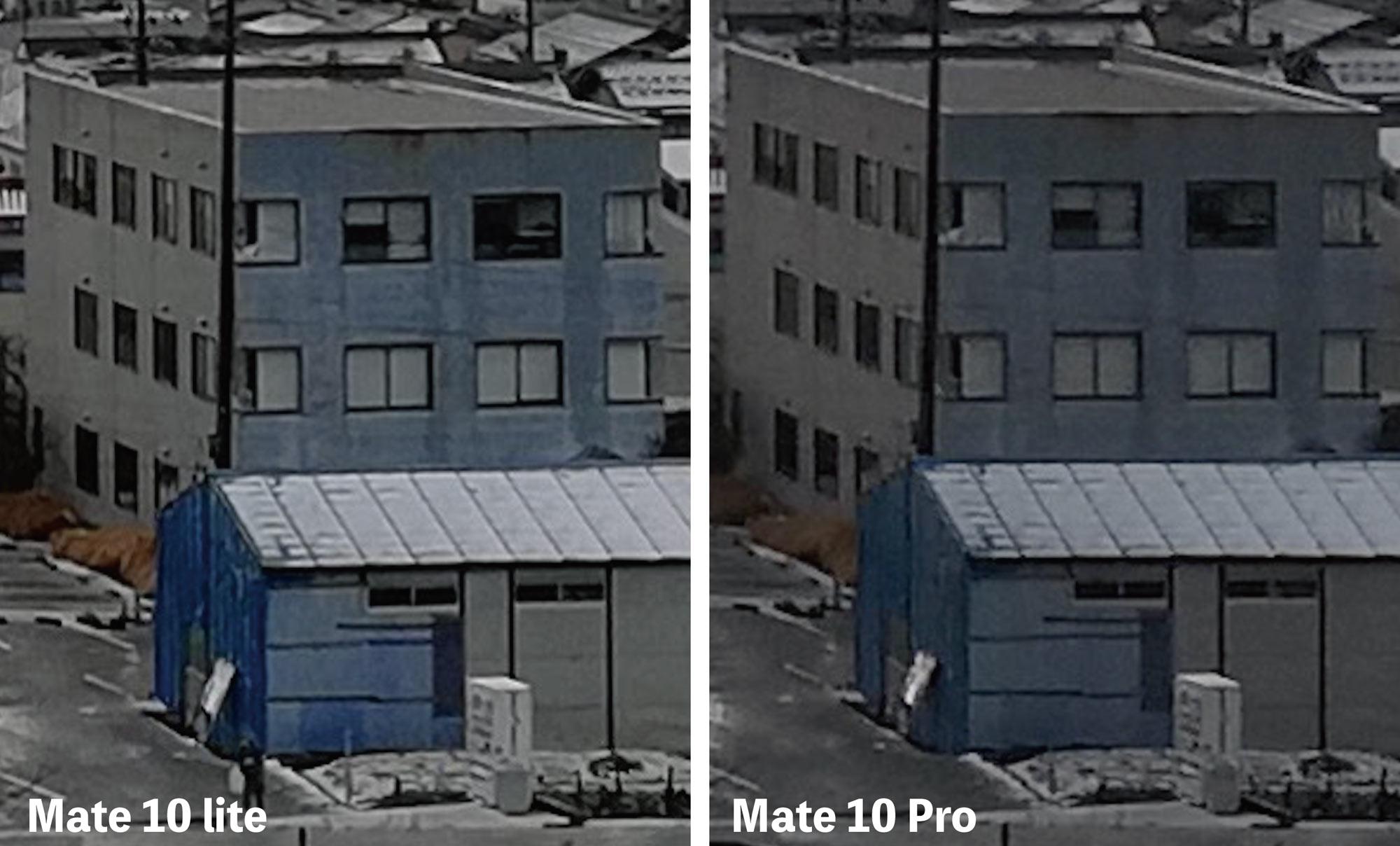 Mate 10 liteとMate 10 Proのカメラ画質比較
