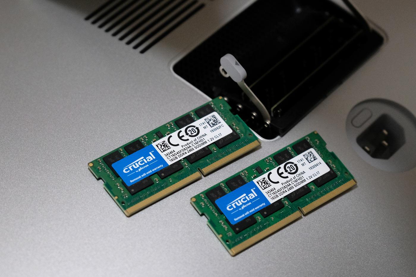 16GB(DDR4-2600MHz)のメモリ