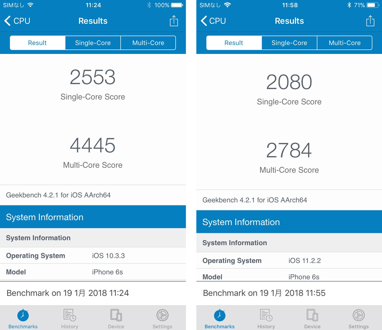 iPhone バッテリー劣化 CPU性能低下