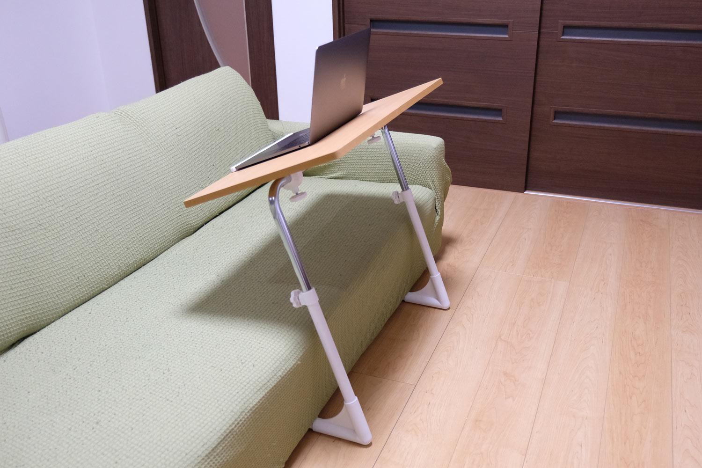 ソファーで使えるサイドテーブル