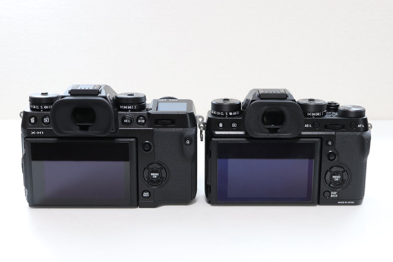 X-H1 vs X-T2 液晶ディスプレイ