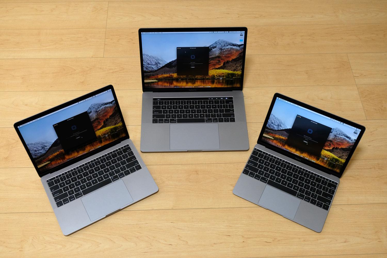 MacBookシリーズ トラックパッド 大きさ比較