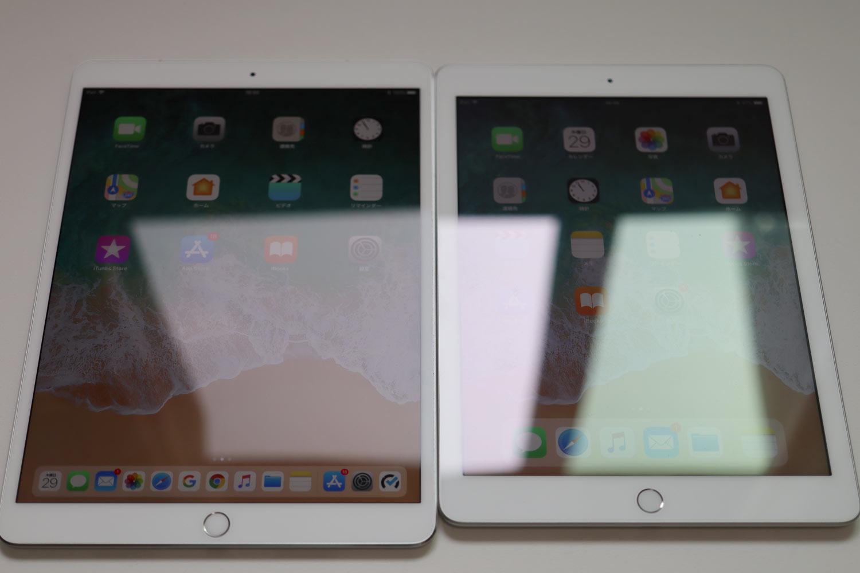 iPad Pro vs iPad 光の反射2