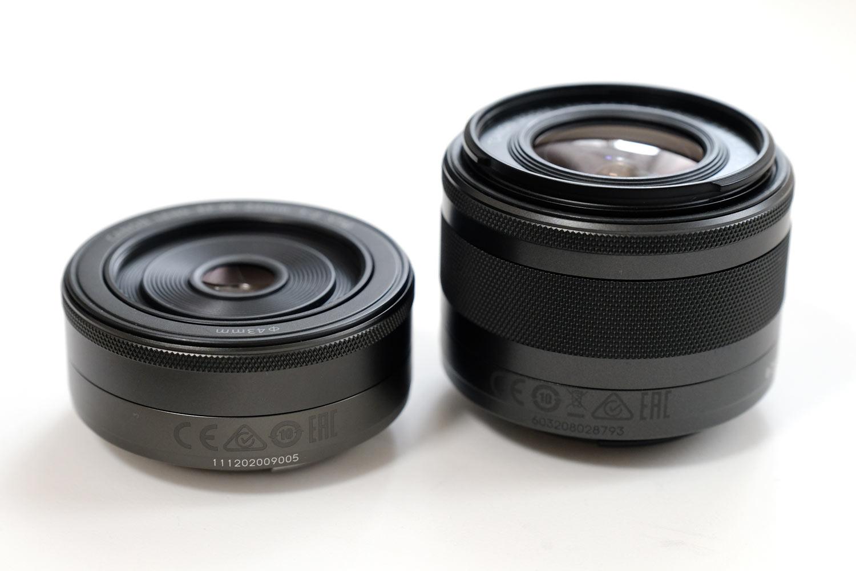 EF-M22mmF2 STMとEF15-45mmF3.5