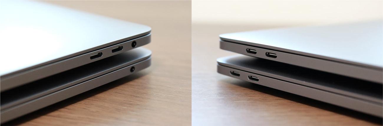 タッチバーあり・なし USB-Cポートの違い