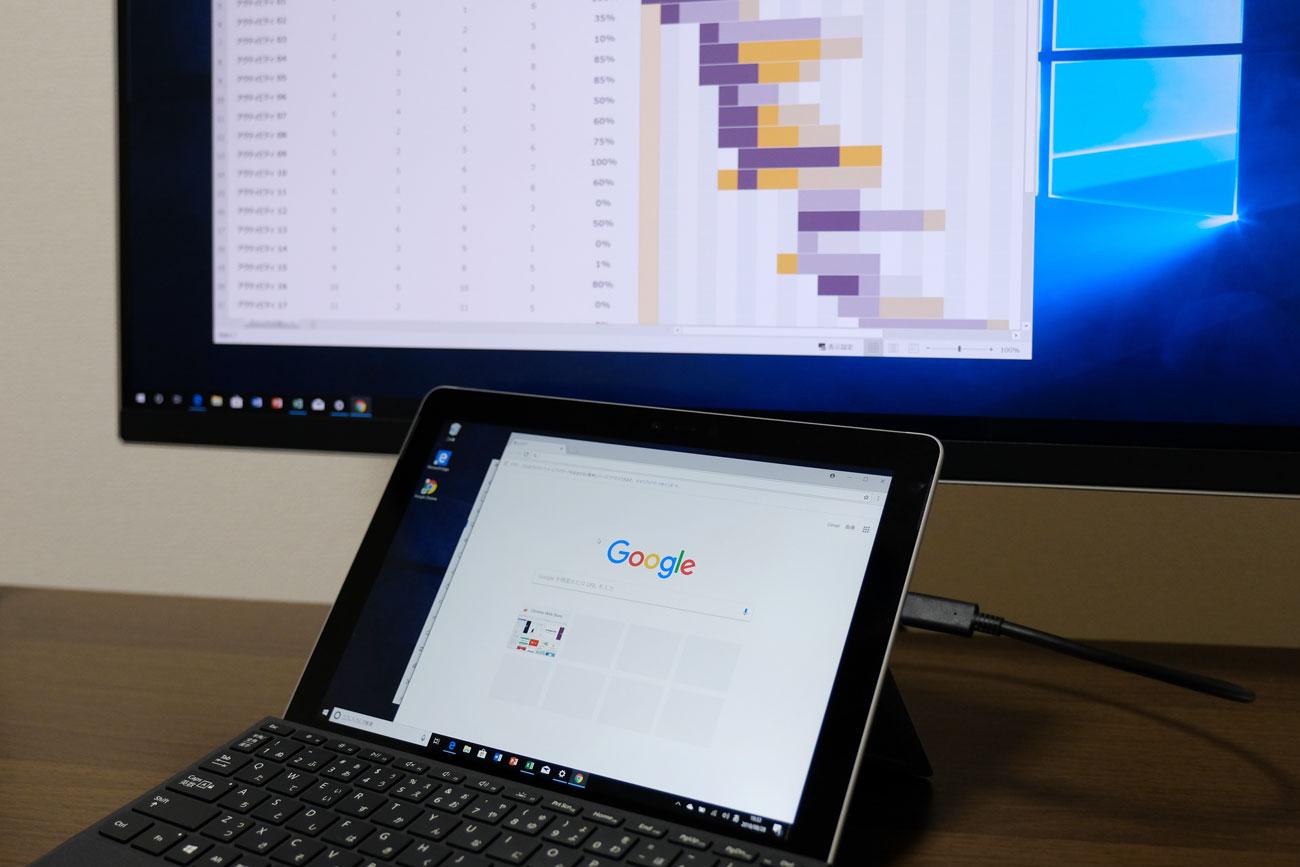 Surface Goと4Kモニター接続
