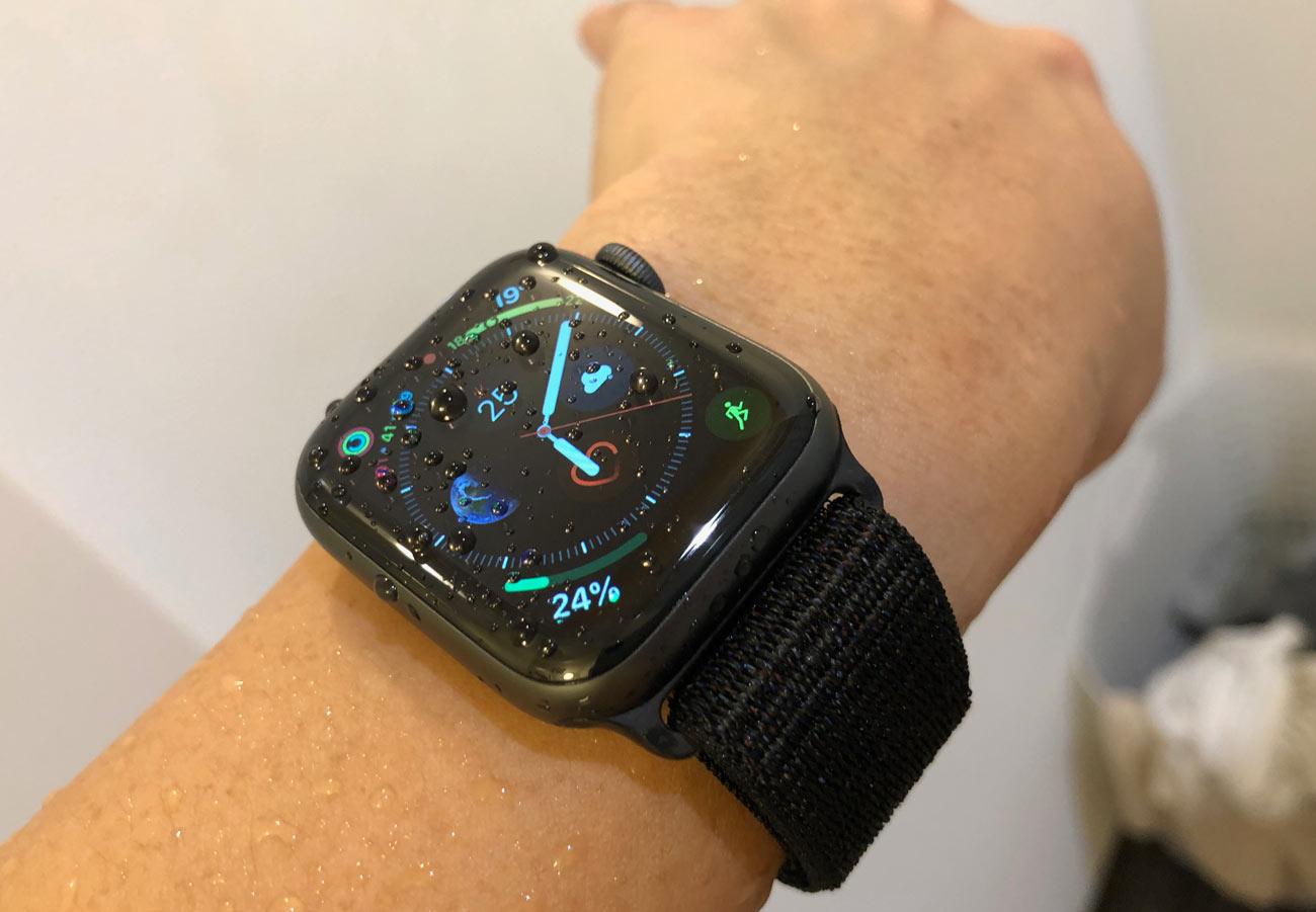 Apple Watch 4 防水性能