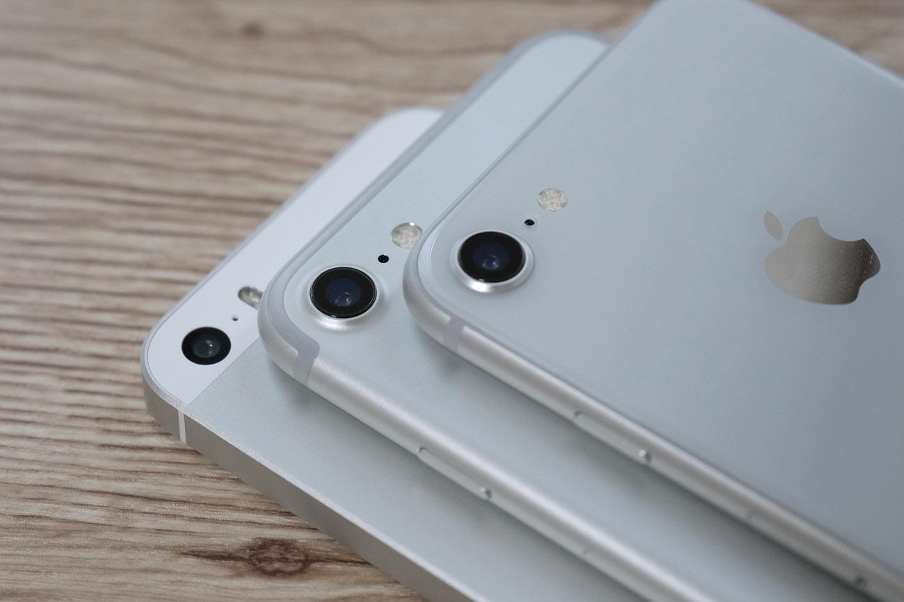 iPhone 8/7とiPhone SE カメラの違い