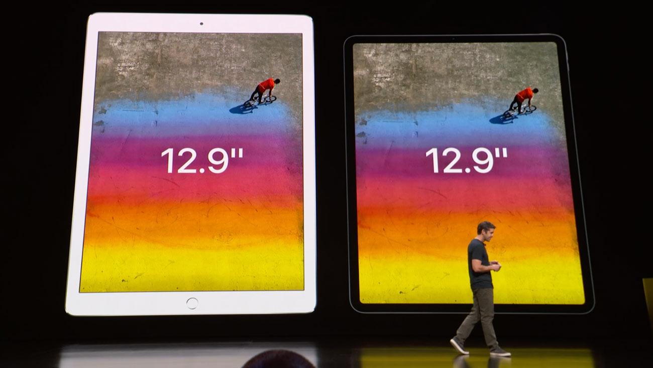 iPad Pro 12.9 新旧の大きさ比較