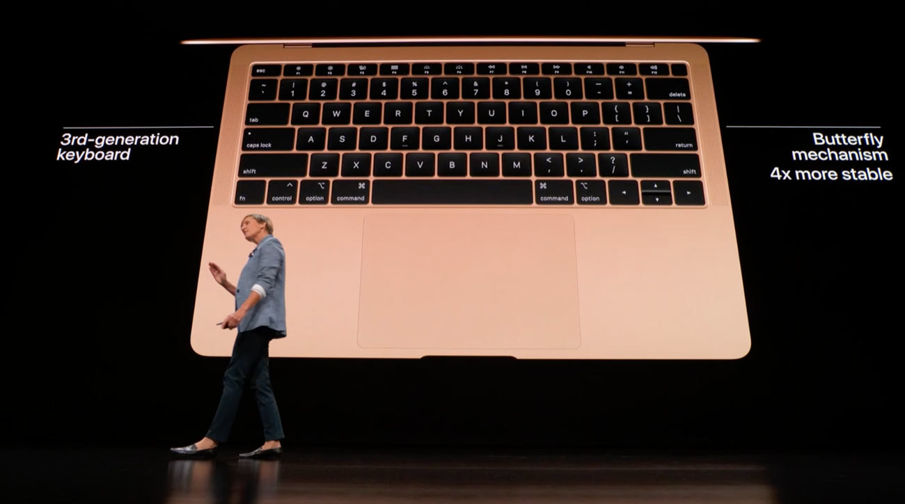 新型MacBook Air 13インチ バタフライ構造キーボード