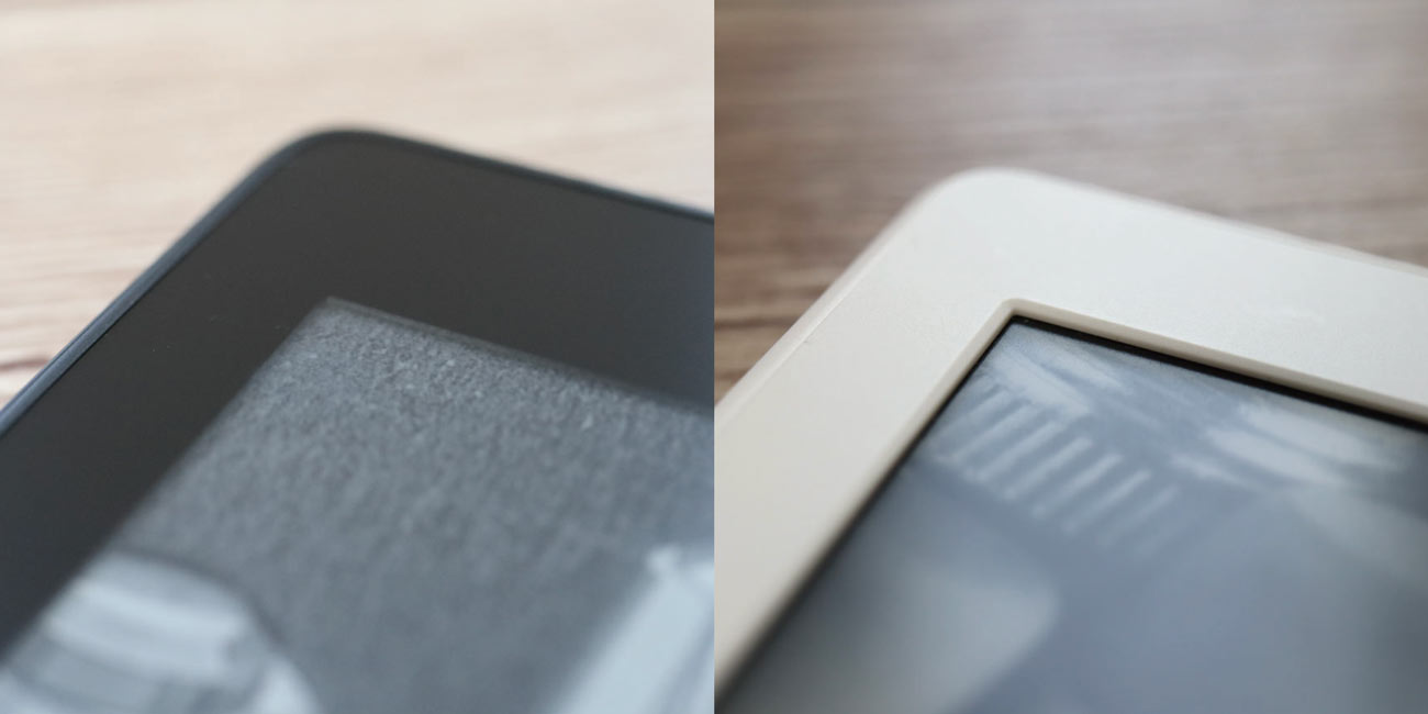 Kindle Paperwhite 新旧比較 ディスプレイ