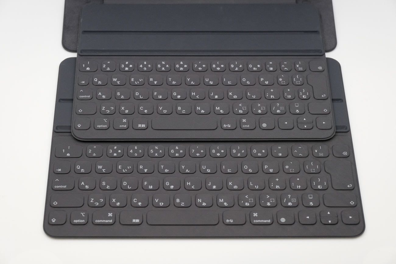 Smart Keyboard Folio 11インチと12.9の大きさの違い