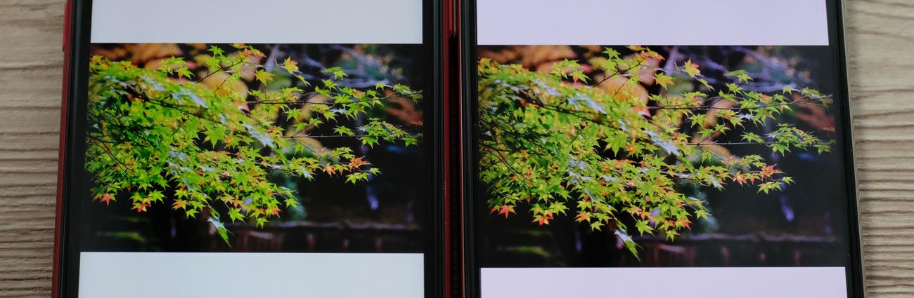 有機EL vs 液晶 iPhoneXRとiPhoneXSで比較