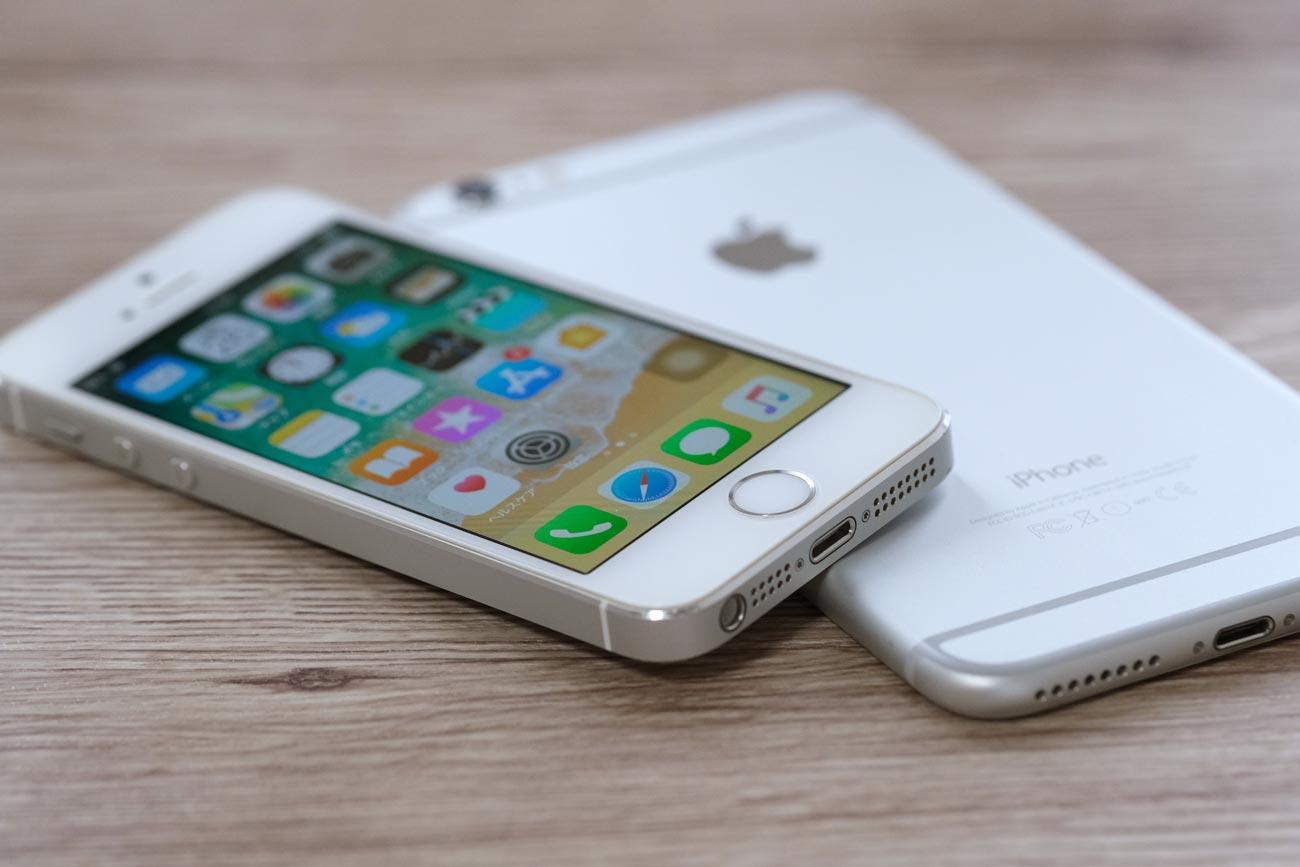 iPhone 5sとiPhone 6 Plus