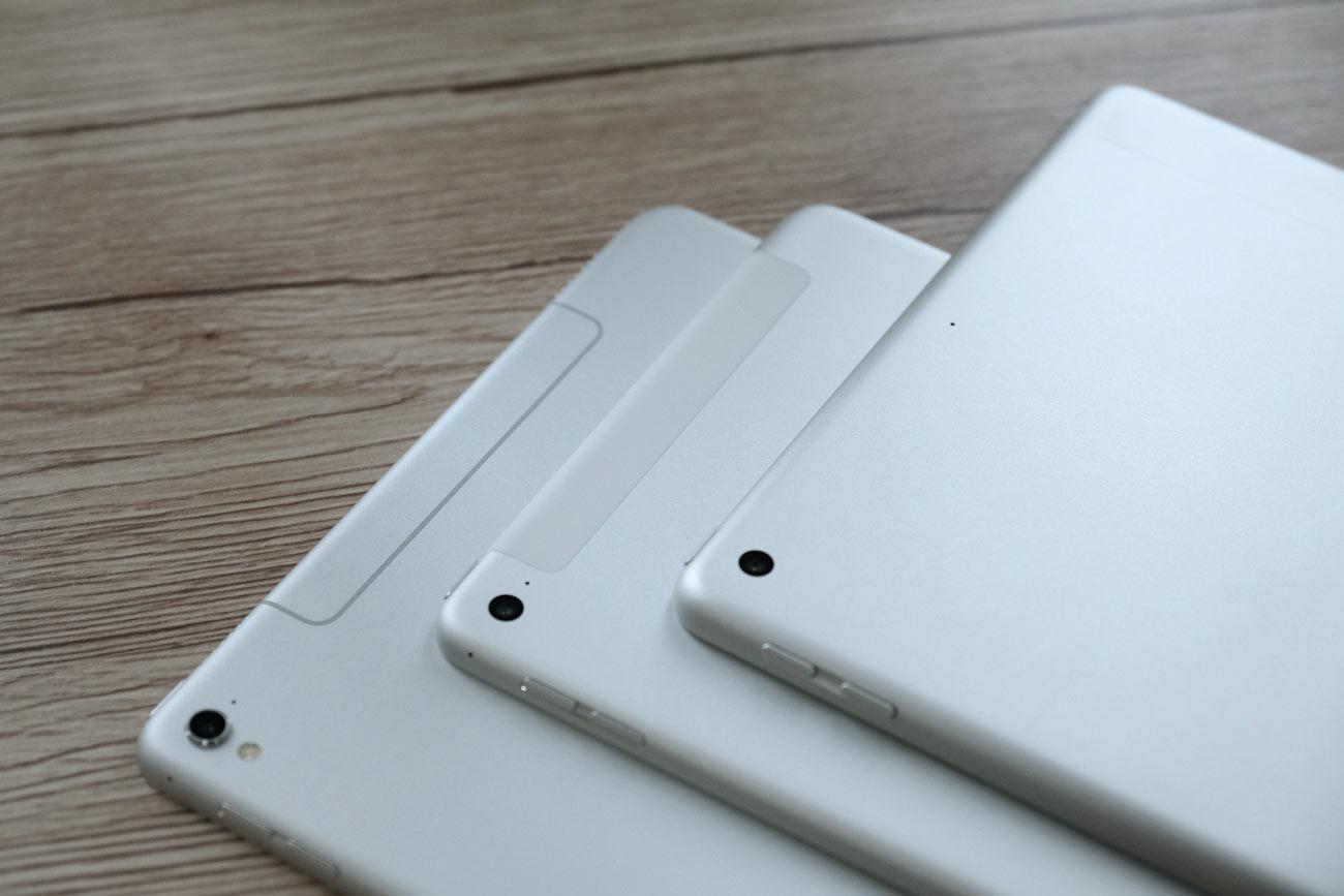 iPad Wi-Fiモデルとセルラーモデルの本体デザインの違い