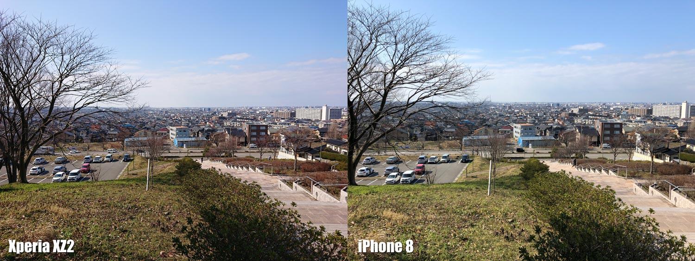 Xperia XZ2とiPhone 8 カメラの綺麗さ比較