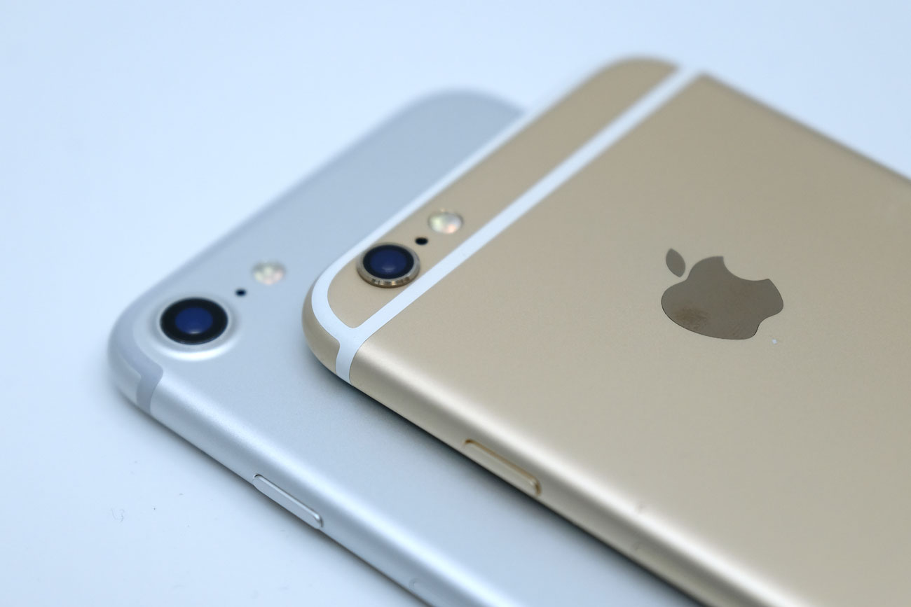iPhone 7とiPhone 6s 上部のアンテナラインの違い
