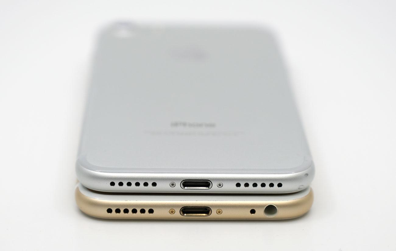 iPhone 7とiPhone 6s ヘッドフォンジャックの有無
