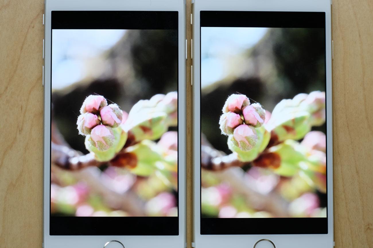 iPhone 7とiPhone 6s ディスプレイの性能差