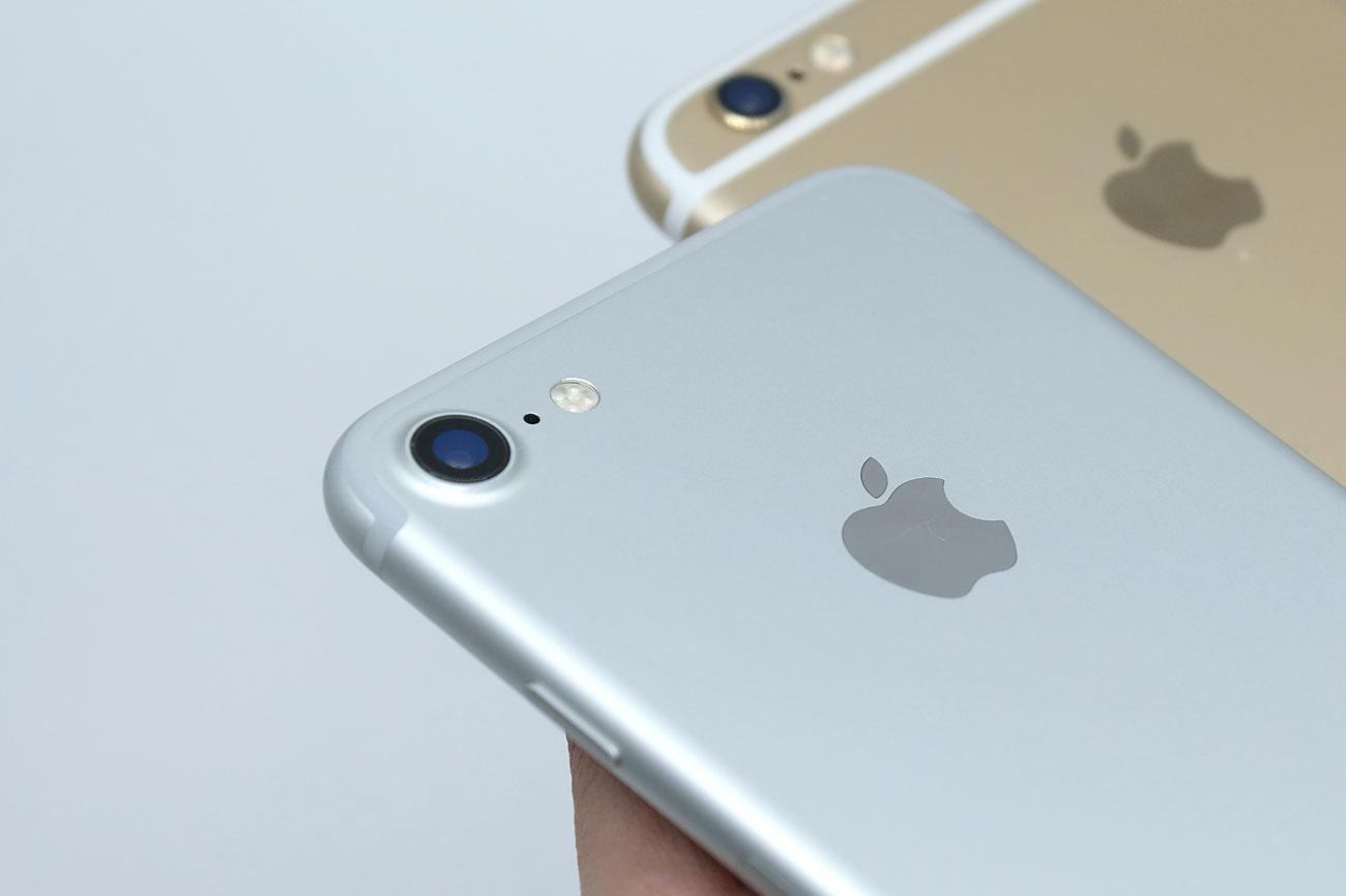 iPhone 7とiPhone 6s メインカメラ