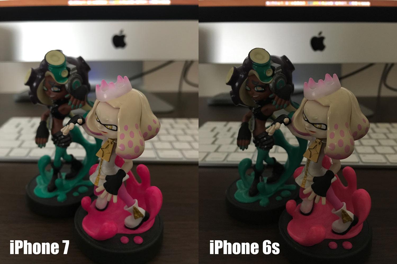 iPhone 7とiPhone 6s メインカメラ 暗所撮影ノイズ