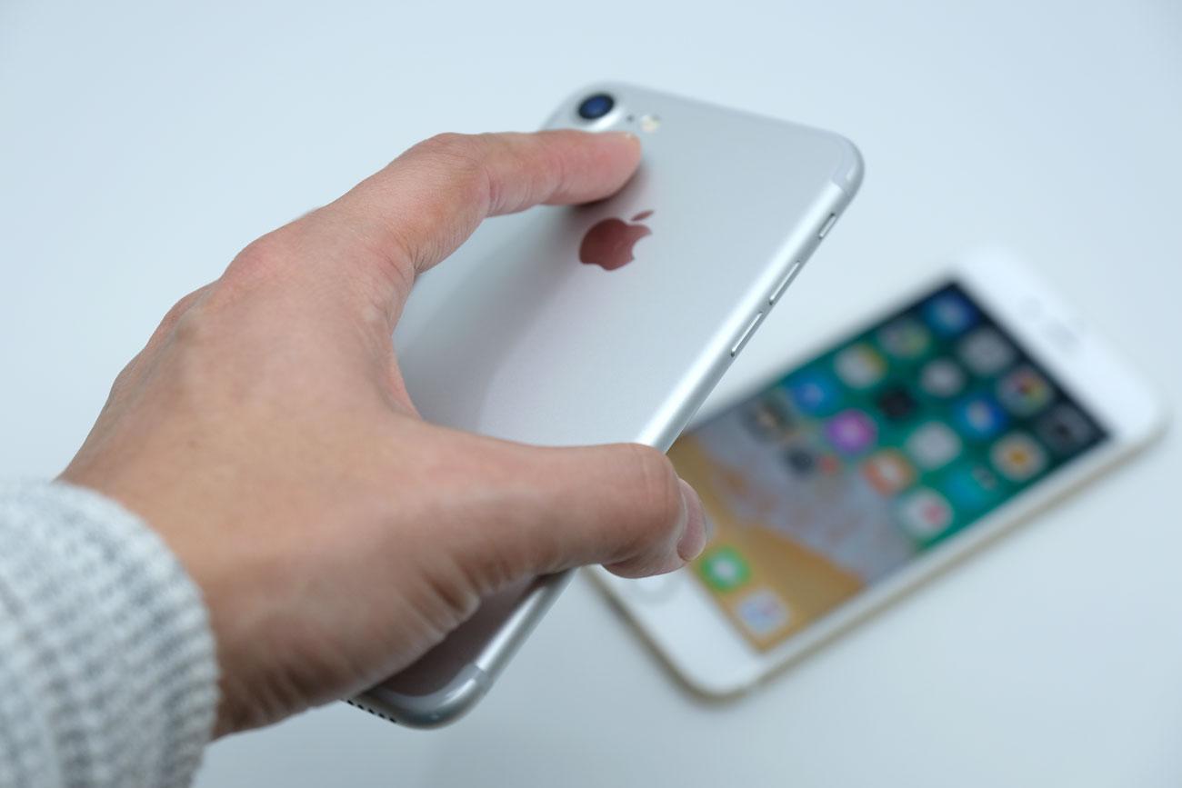iPhone 7 持った時の感じ