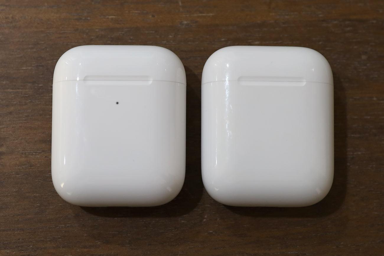 AirPods ワイヤレス充電ケースと充電ケース