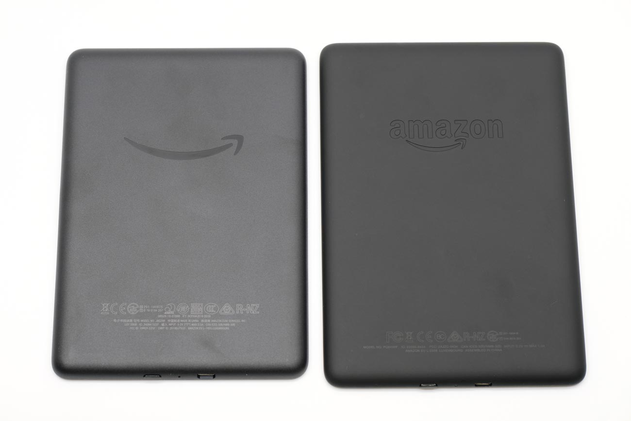 Kindle 2019とKindle Paperwhite 筐体の素材