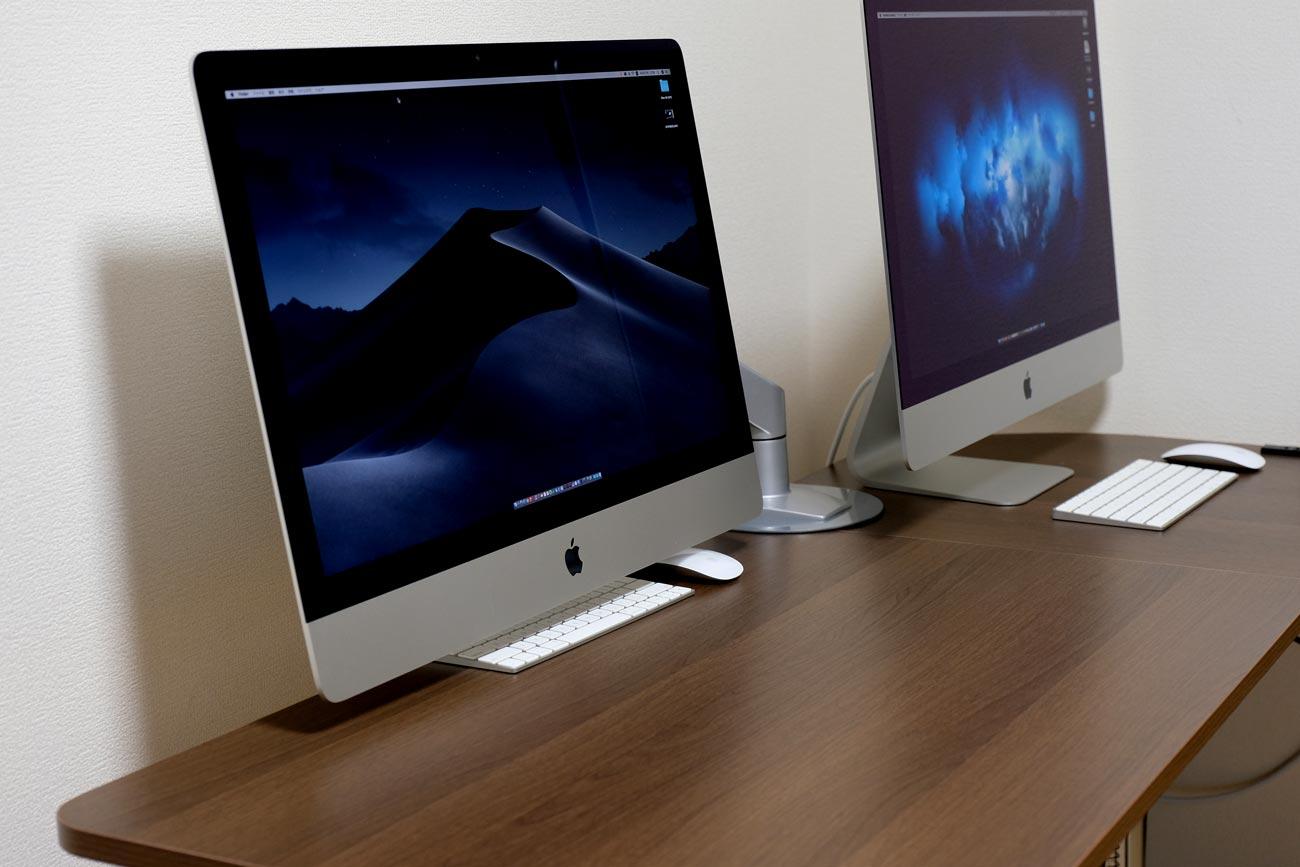 iMac VESAマウントアダプタモデルで机の上が広くなる