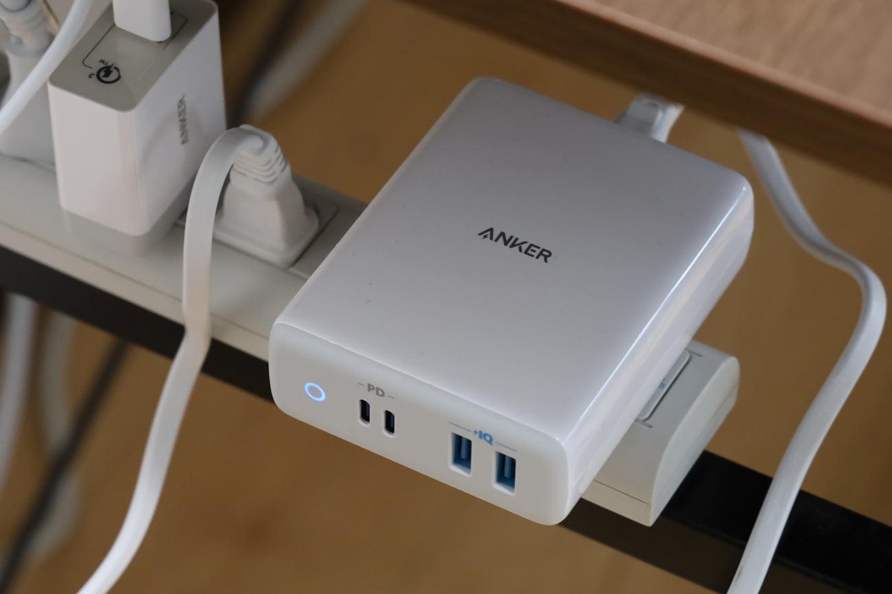 Anker PowerPort Atom PD 4を電源タップに接続