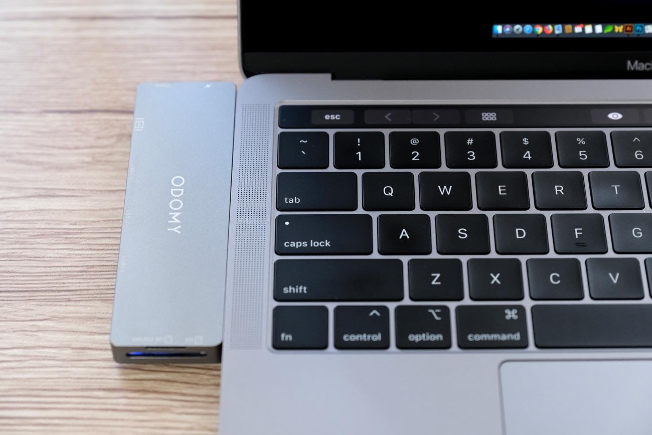 ODOMY USB-C ハブ 8in1 MacBook Proとの統一性