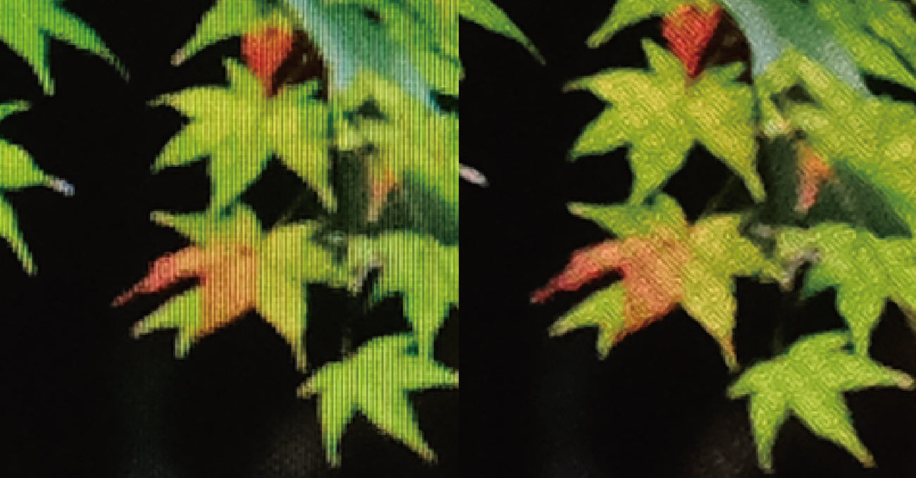 液晶と有機EL 解像度の違いを比較