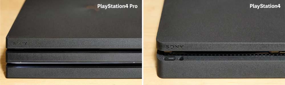 PS4 ProとPS4 本体比較 操作パネル