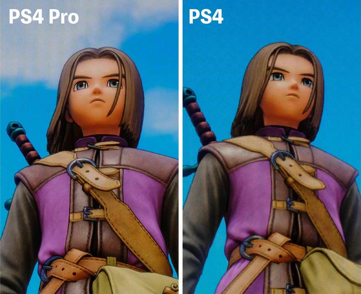 ドラゴンクエスト11 PS4 ProとPS4 4Kと2K比較
