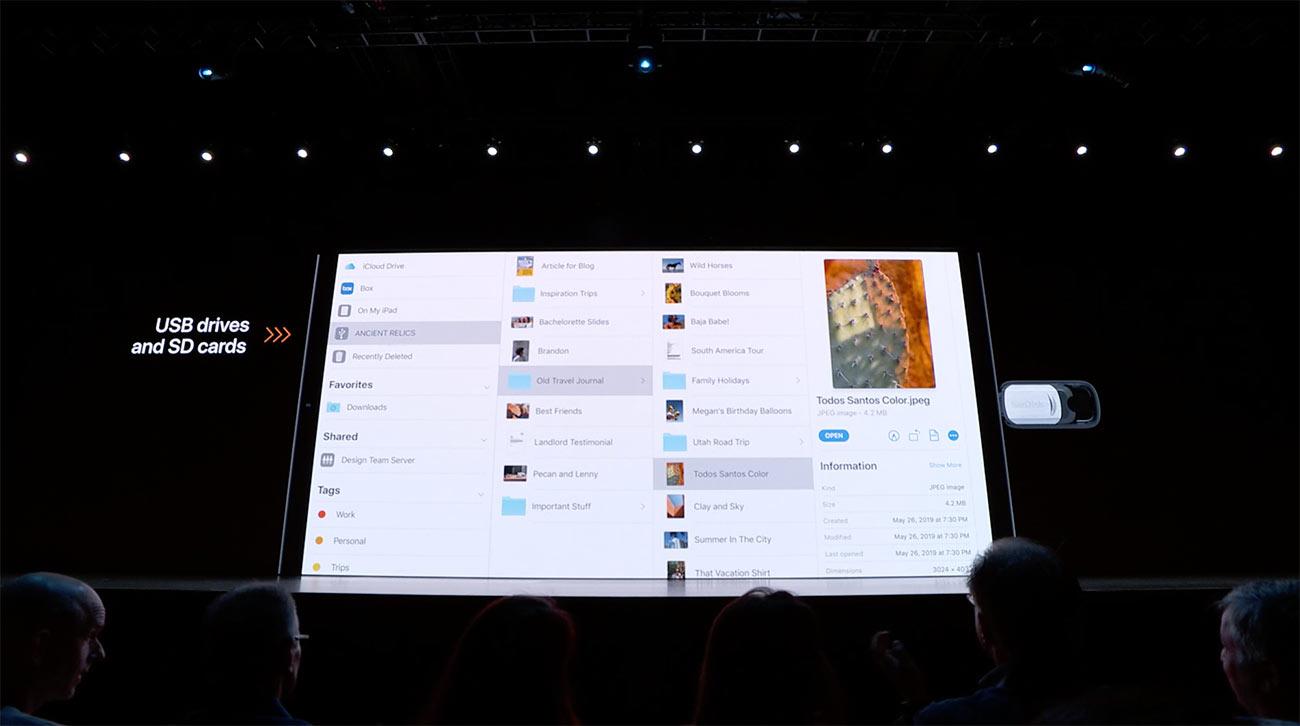 iOS 13/iPadOS 外付けドライブに対応