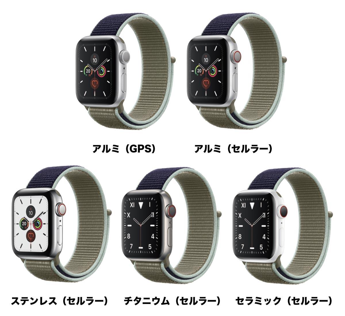 Apple Watch アルミケースとステンレスケース