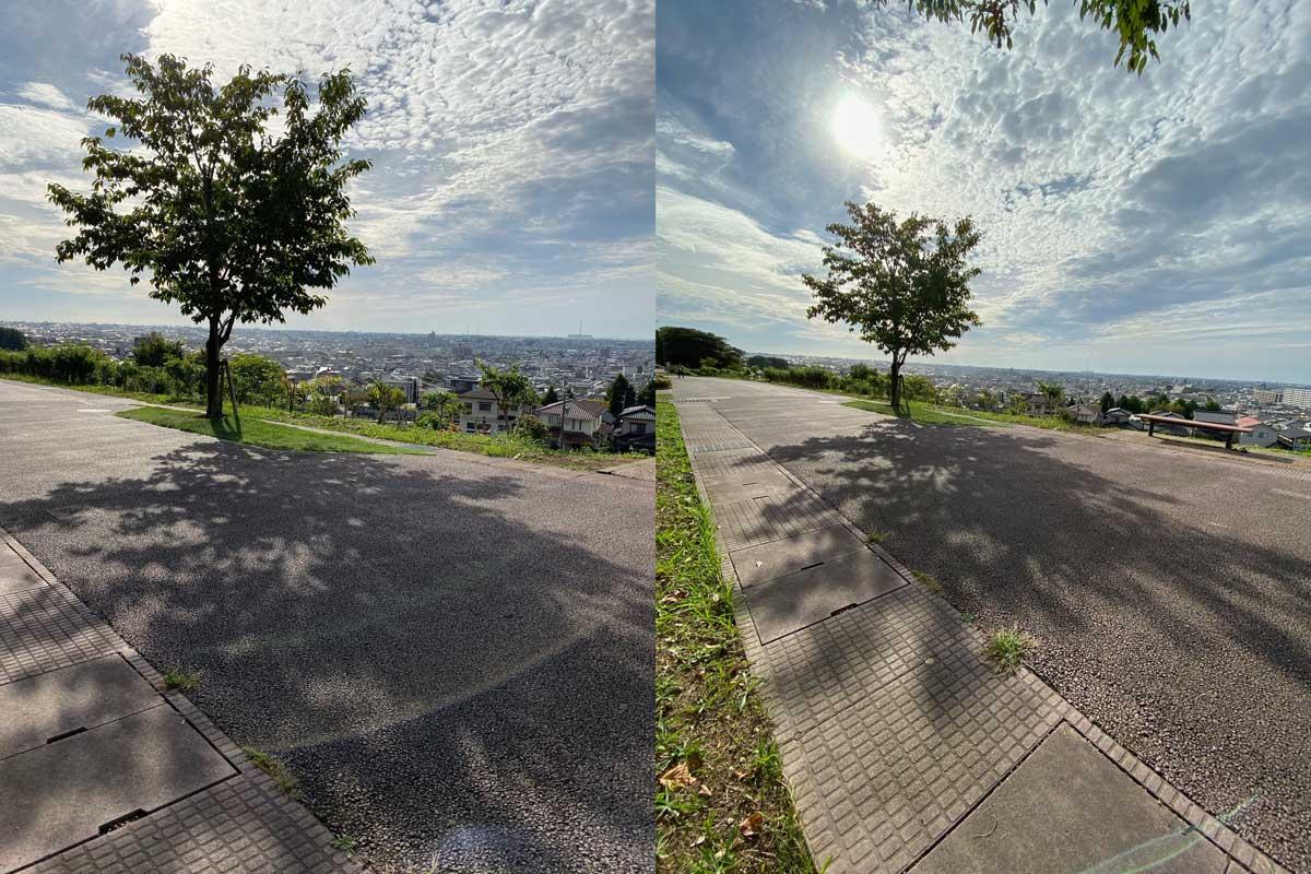 広角と超広角カメラの画角の違い