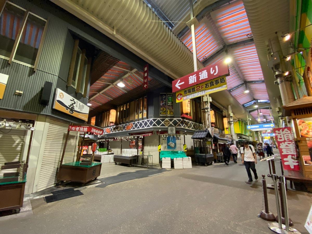 iPhone 11 Proの広角カメラ(近江町市場)