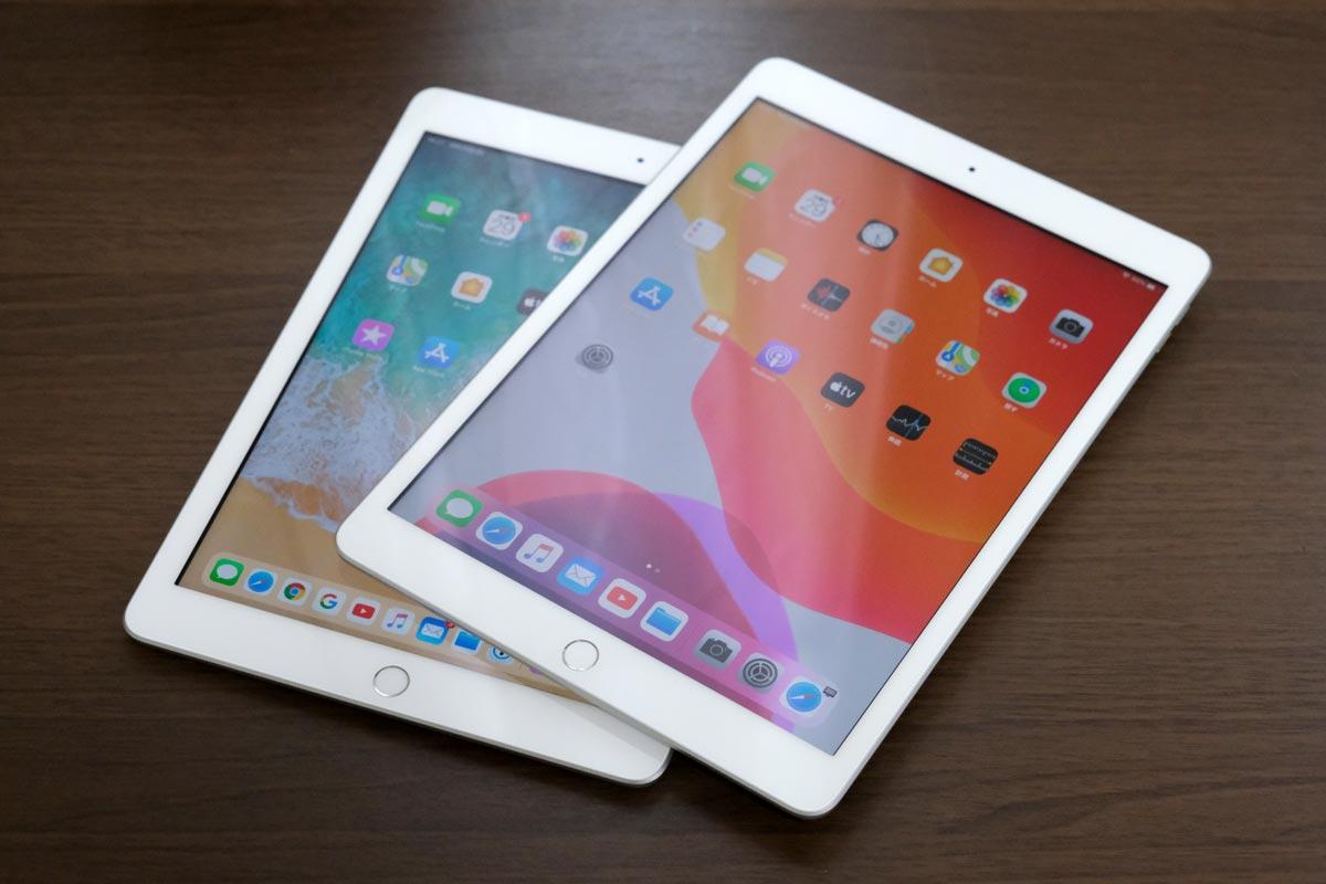 iPad(第6世代)とiPad(第7世代)の正面デザイン