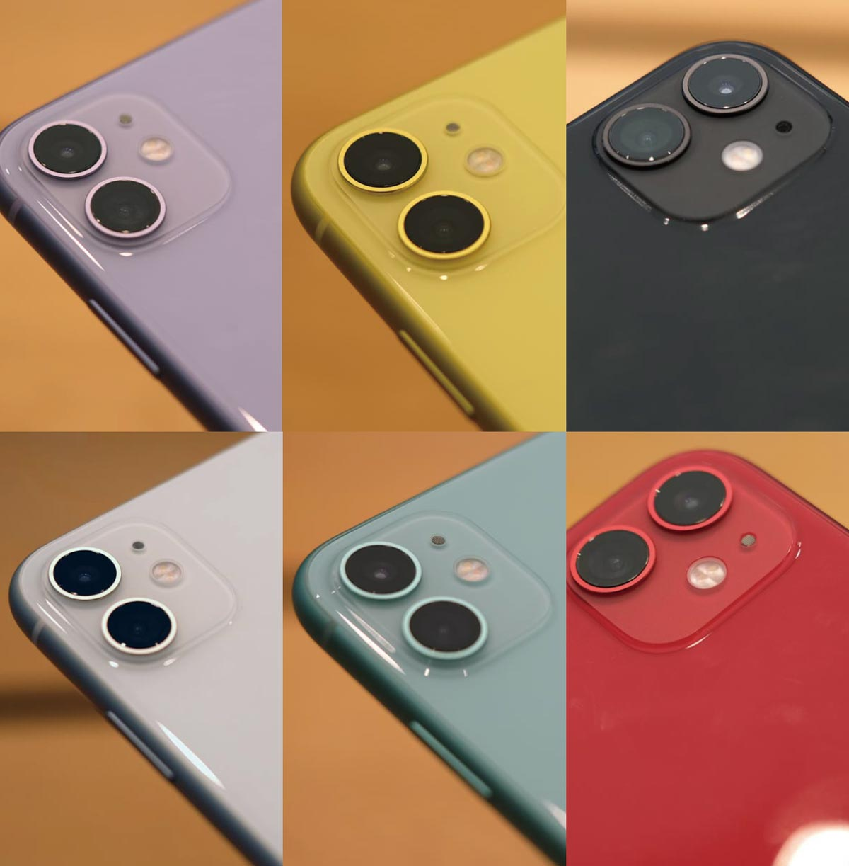 iPhone 11 カラーラインナップ(実機比較)