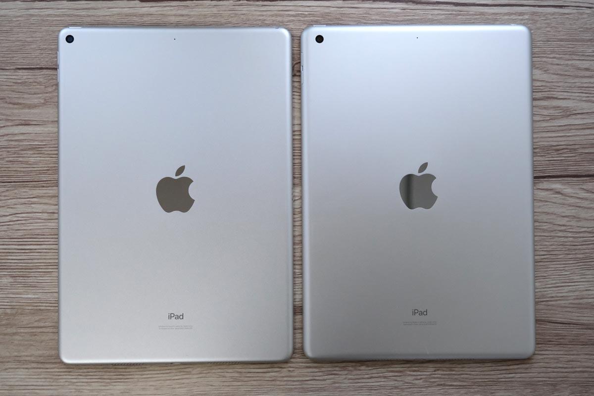 iPad Air 3とiPad(第7世代) 背面パネルの違いを比較