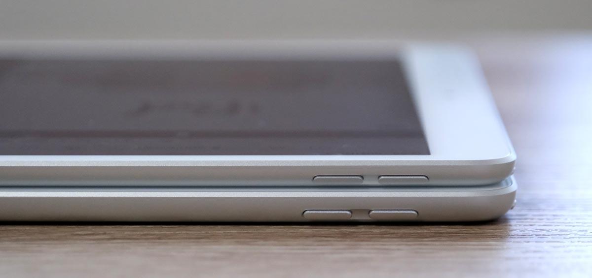 iPad Air 3とiPad(第7世代)本体の厚み