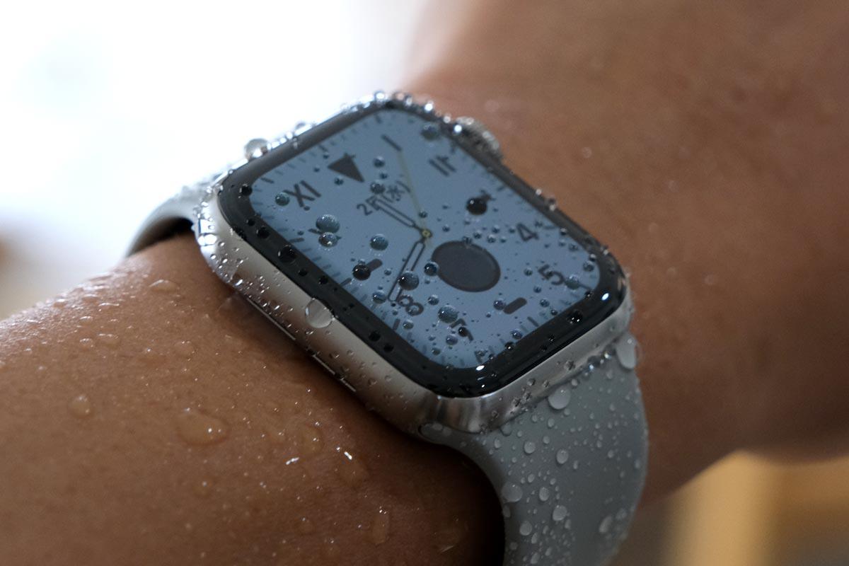 Apple Watchは防水に対応している
