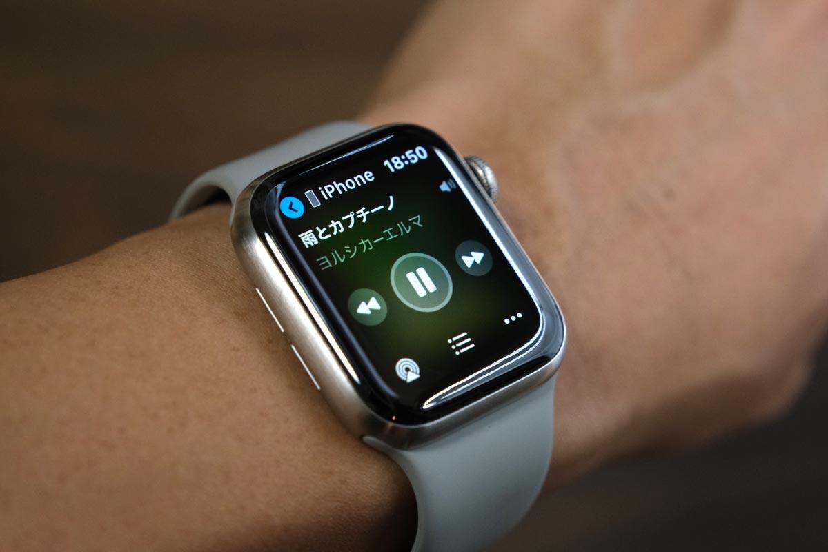 Apple Watchでミュージックアプリを操作